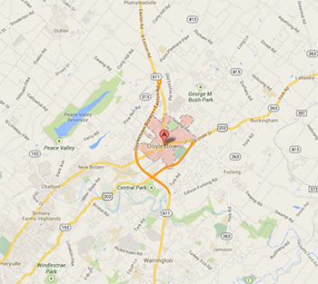 Map of Doylestown, PA