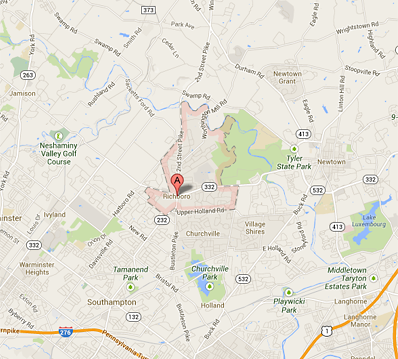 Map of Richboro, PA